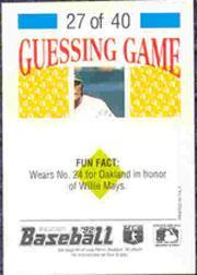 1992 Panini Stickers #59 Jay Buhner back image