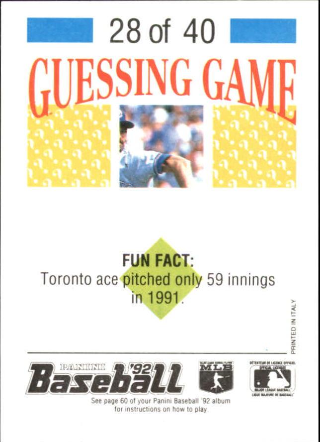 1992 Panini Stickers #62 Randy Johnson back image