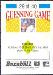 1992 Panini Stickers #65 Randy Milligan back image