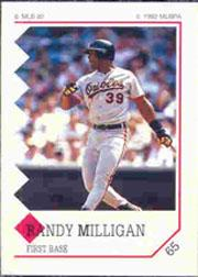 1992 Panini Stickers #65 Randy Milligan