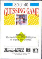 1992 Panini Stickers #67 Leo Gomez back image