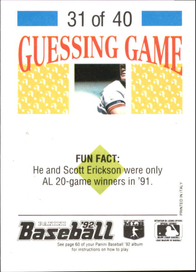 1992 Panini Stickers #68 Cal Ripken back image