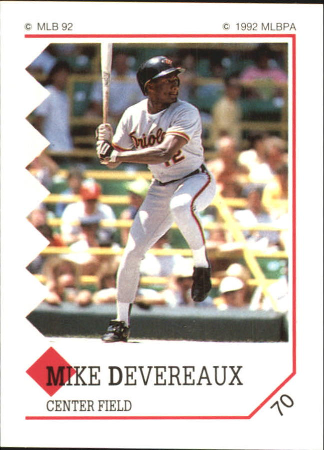 1992 Panini Stickers #70 Mike Devereaux