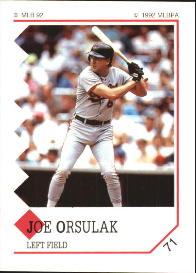 1992 Panini Stickers #71 Joe Orsulak