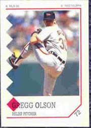 1992 Panini Stickers #72 Gregg Olson