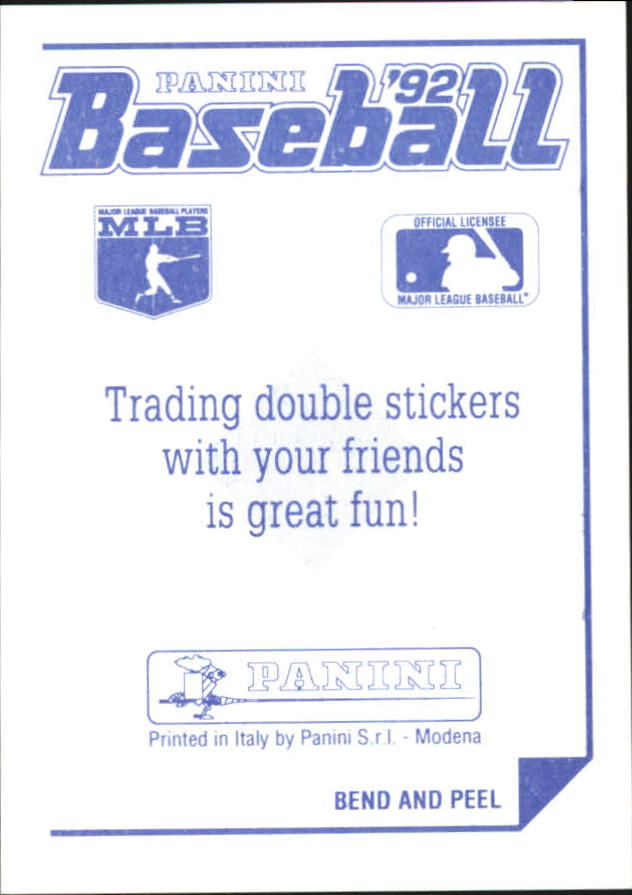 1992 Panini Stickers #73 Orioles Team Logo back image