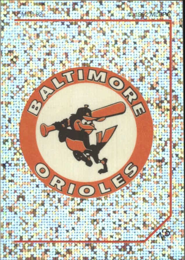 1992 Panini Stickers #73 Orioles Team Logo
