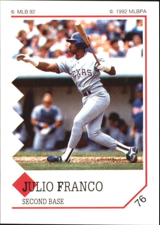 1992 Panini Stickers #76 Julio Franco