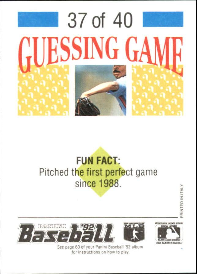1992 Panini Stickers #81 Juan Gonzalez back image