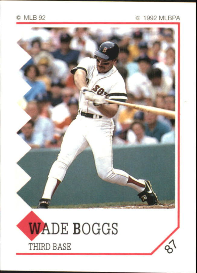 1992 Panini Stickers #87 Wade Boggs