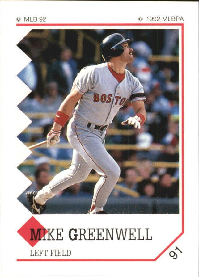 1992 Panini Stickers #91 Mike Greenwell
