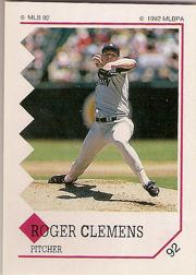 1992 Panini Stickers #92 Roger Clemens