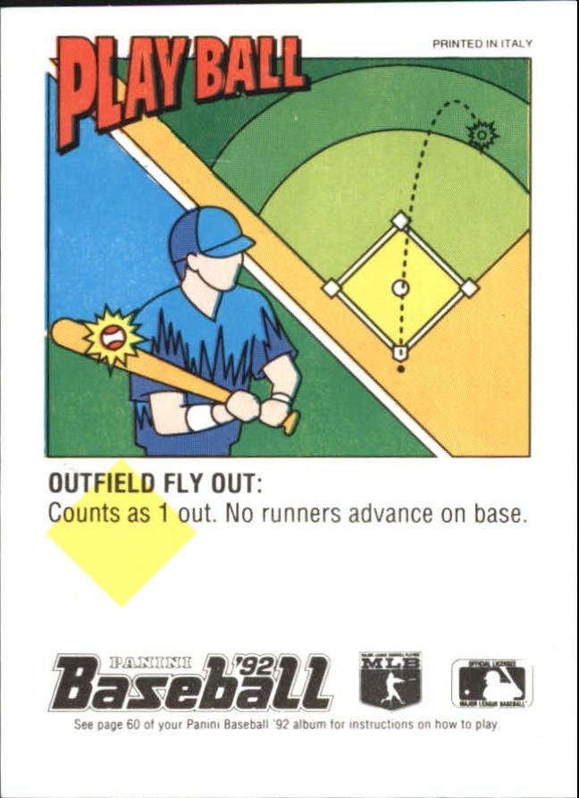 1992 Panini Stickers #94 Todd Benzinger back image