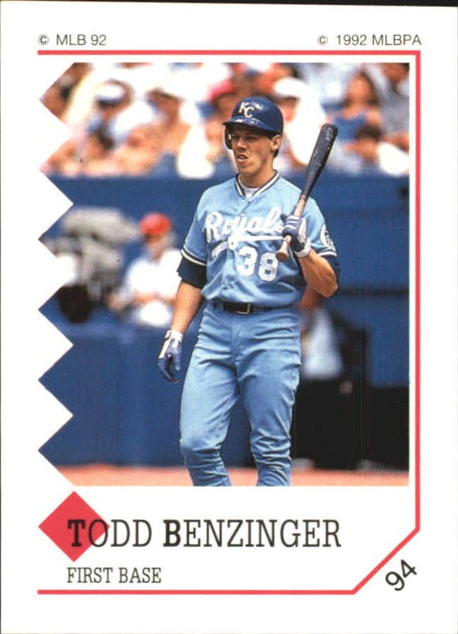 1992 Panini Stickers #94 Todd Benzinger