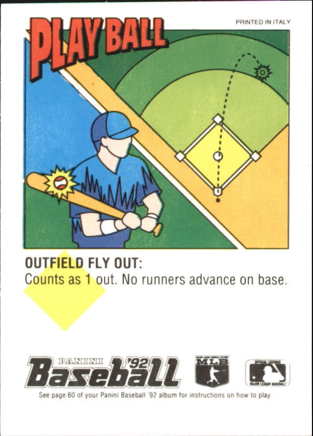 1992 Panini Stickers #96 Bill Pecota back image