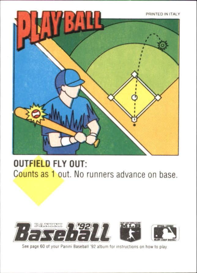 1992 Panini Stickers #98 Danny Tartabull back image