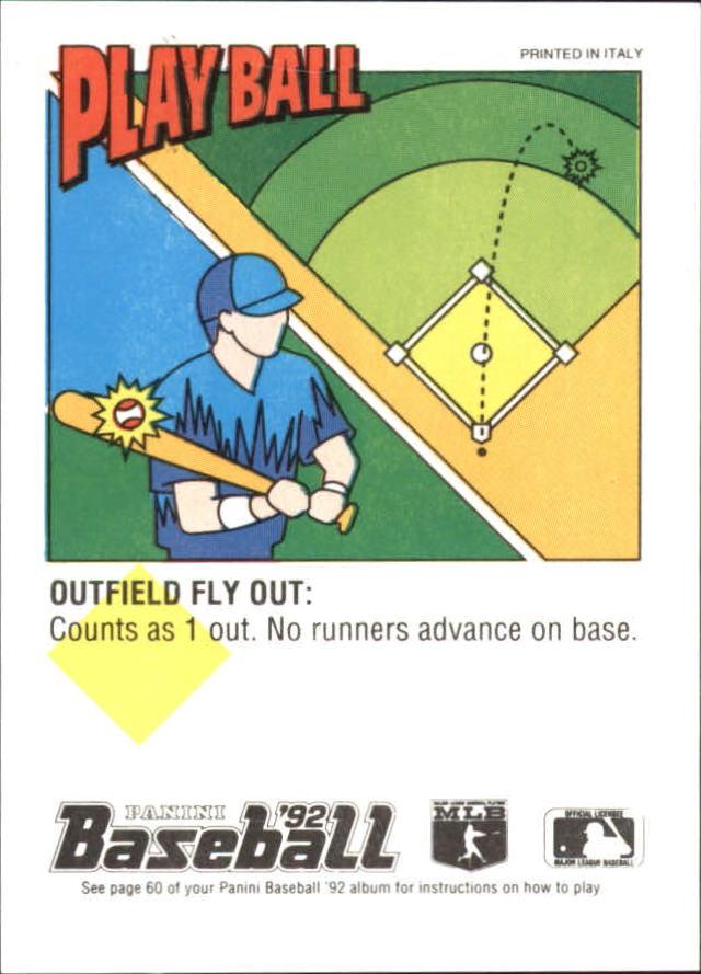 1992 Panini Stickers #100 Kirk Gibson back image