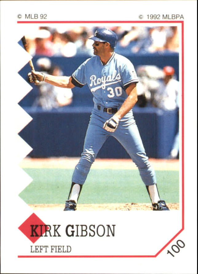 1992 Panini Stickers #100 Kirk Gibson