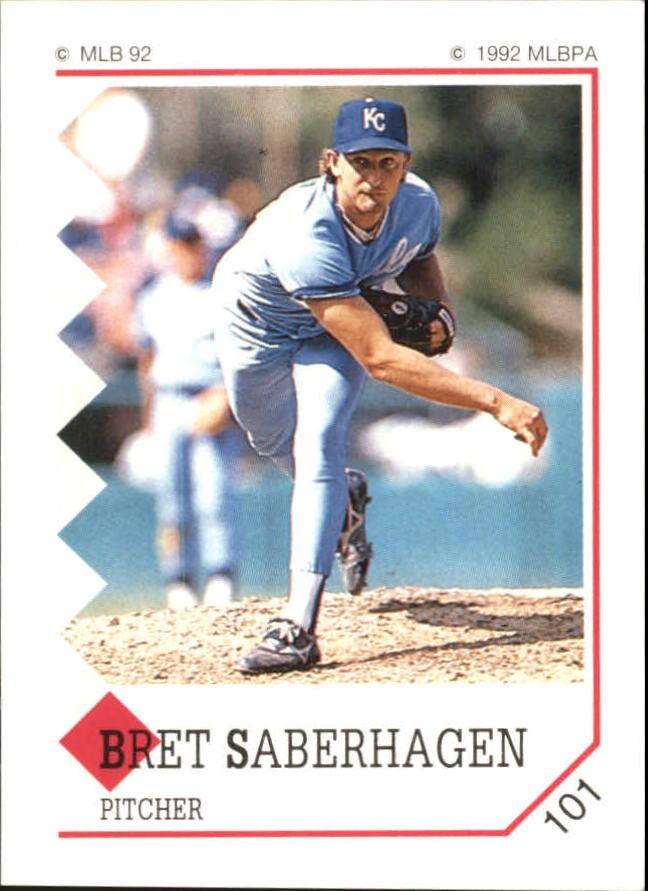 1992 Panini Stickers #101 Bret Saberhagen