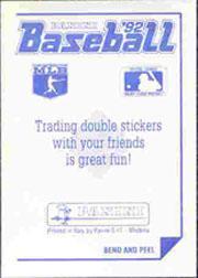 1992 Panini Stickers #103 Royals Team Logo back image