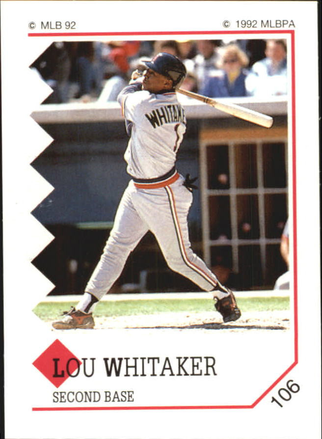 1992 Panini Stickers #106 Lou Whitaker