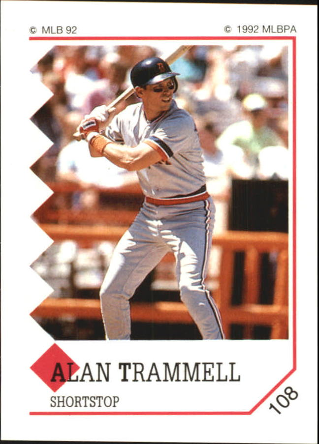 1992 Panini Stickers #108 Alan Trammell