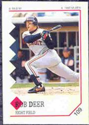 1992 Panini Stickers #109 Rob Deer
