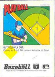 1992 Panini Stickers #111 Lloyd Moseby back image