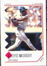 1992 Panini Stickers #111 Lloyd Moseby