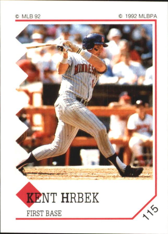 1992 Panini Stickers #115 Kent Hrbek