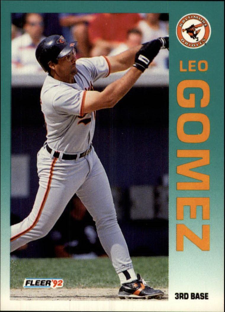 1992 Fleer #8 Leo Gomez