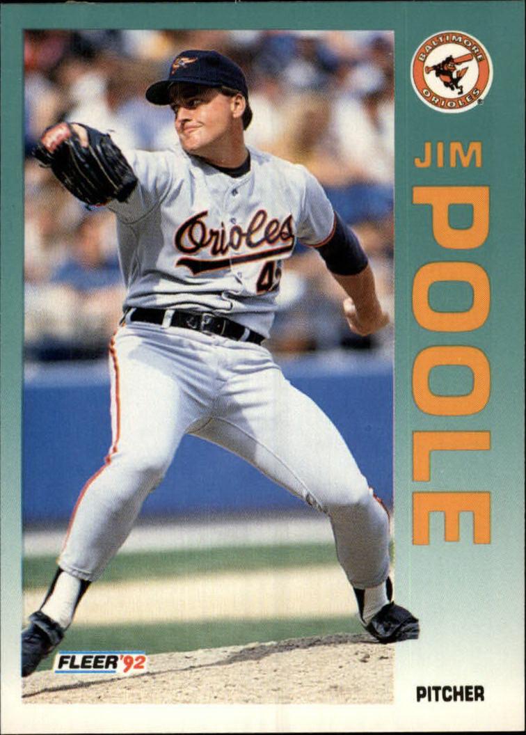 1992 Fleer #23 Jim Poole