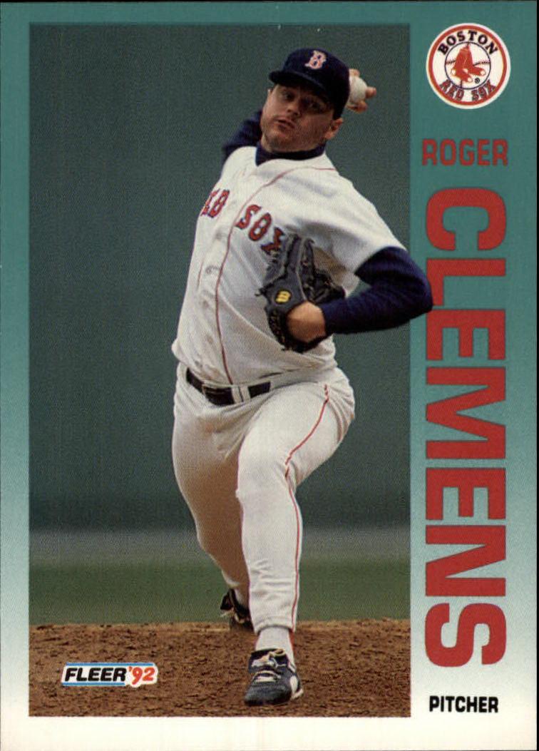 1992 Fleer #37 Roger Clemens