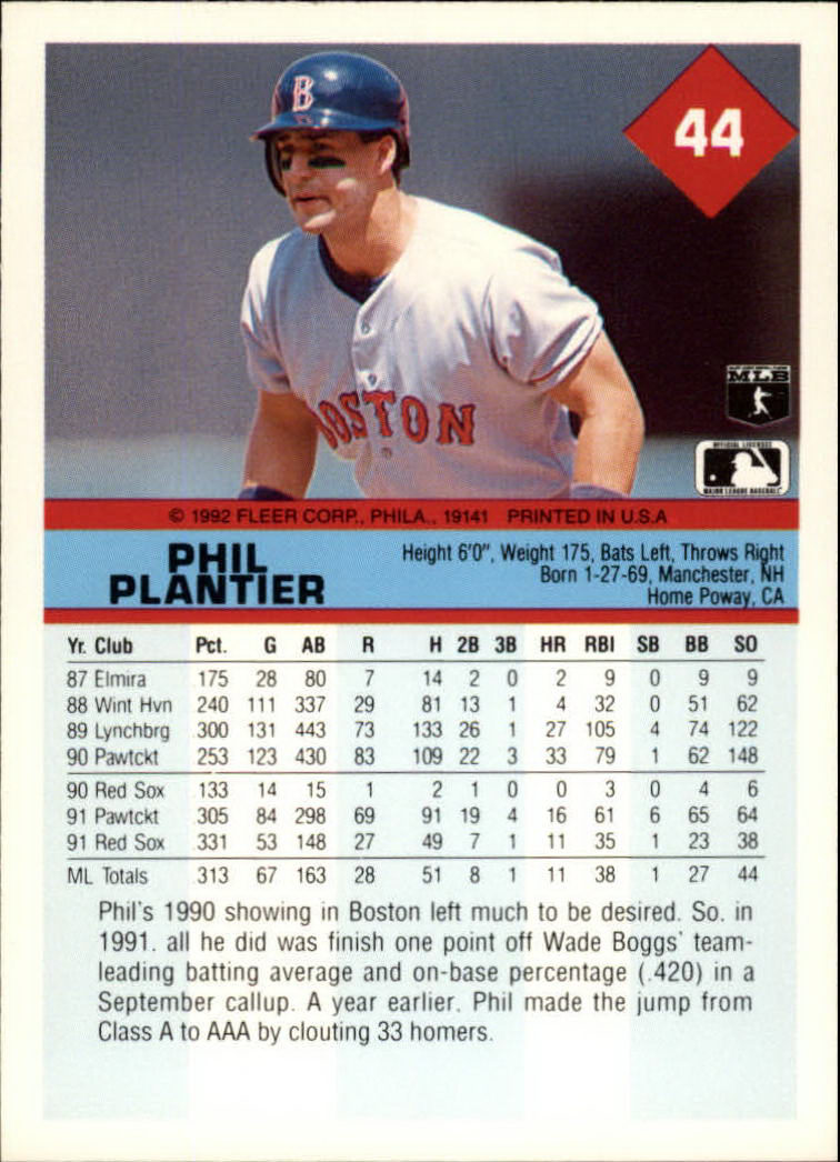 Details About 1992 Fleer Baseball Cards 1 250 Pick From List