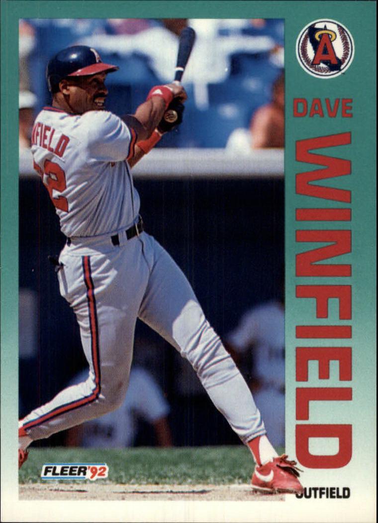 1992 Fleer #72 Dave Winfield