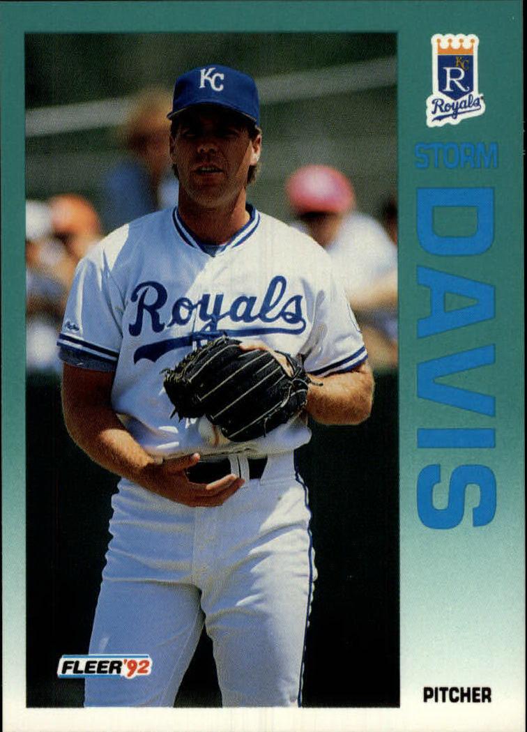 1992 Fleer #155 Storm Davis