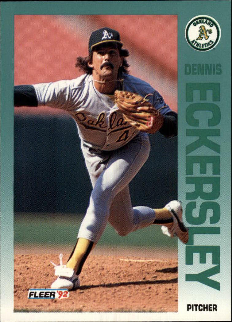 1992 Fleer #255 Dennis Eckersley