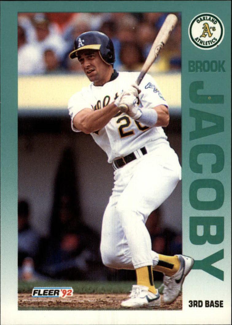 1992 Fleer #260 Brook Jacoby
