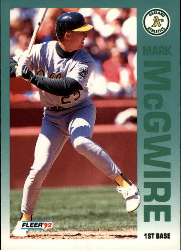 1992 Fleer #262 Mark McGwire