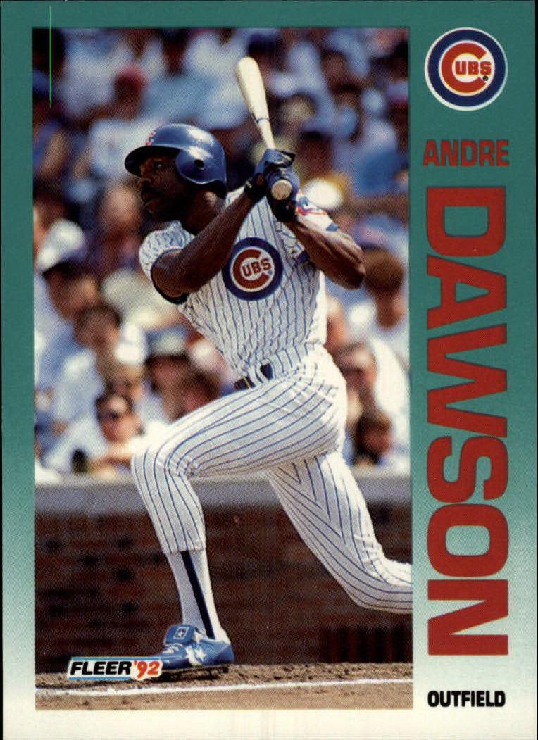 1992 Fleer #379 Andre Dawson
