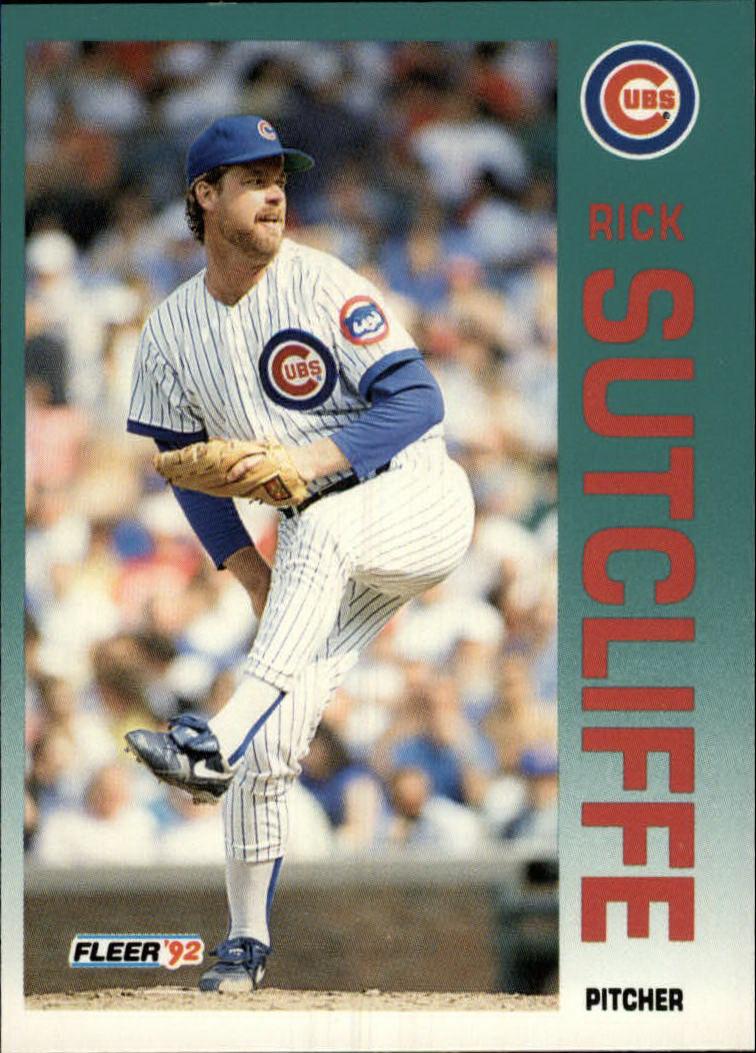 1992 Fleer #393 Rick Sutcliffe