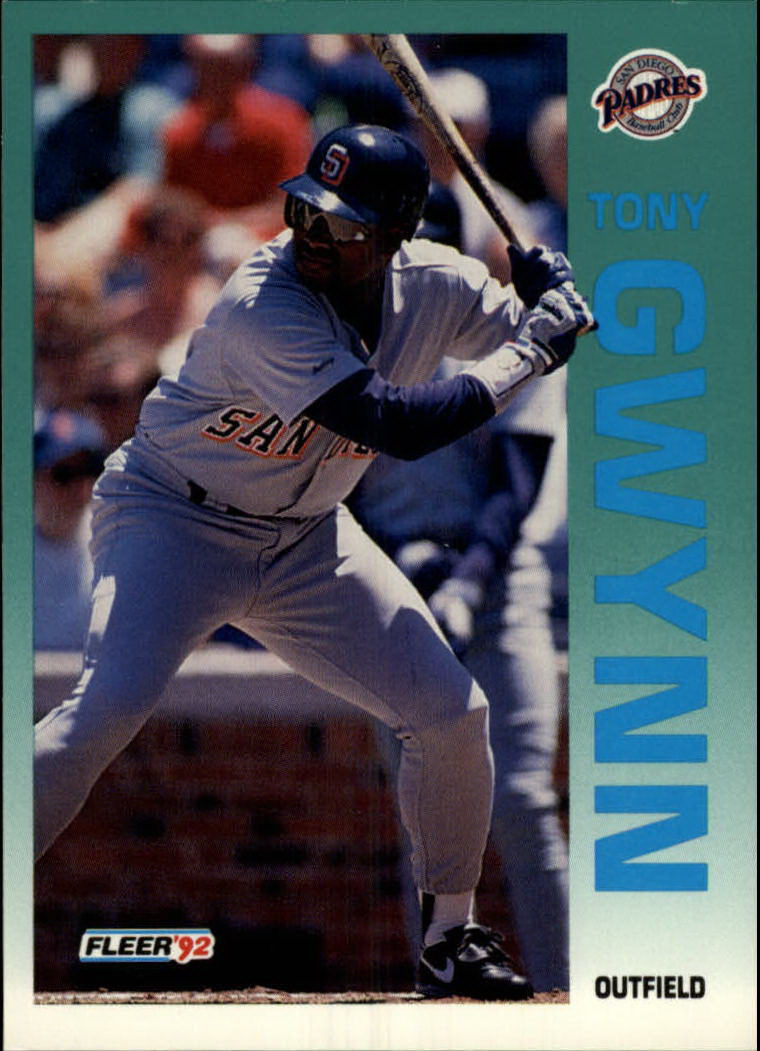 1992 Fleer #605 Tony Gwynn