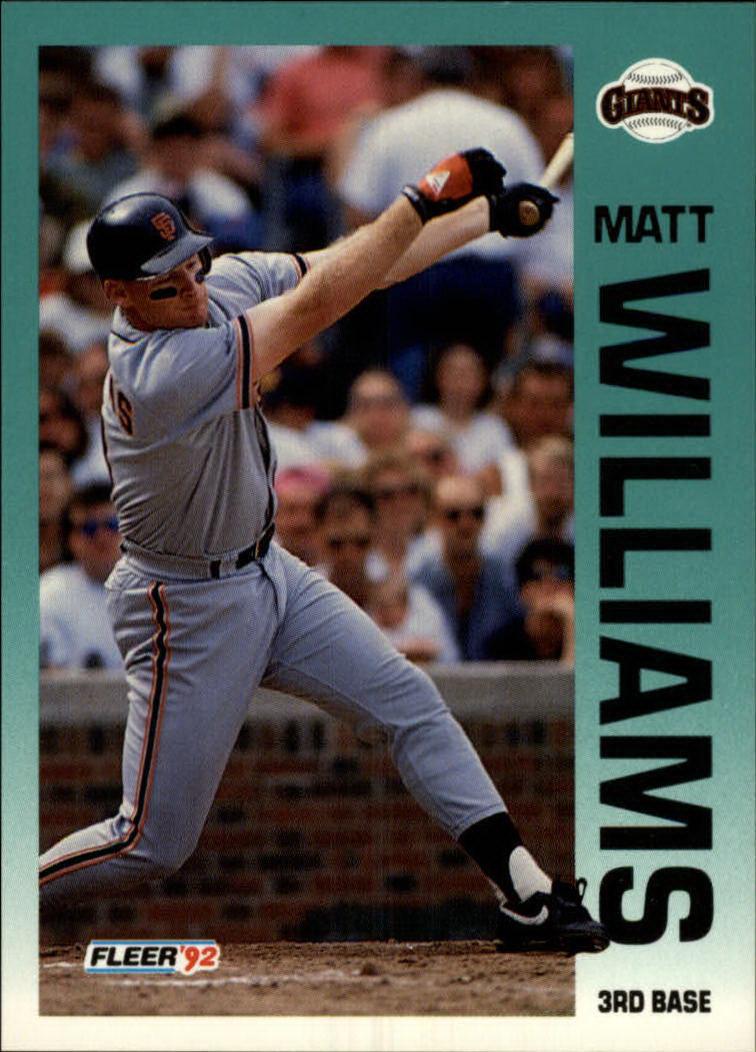 1992 Fleer #650 Matt Williams
