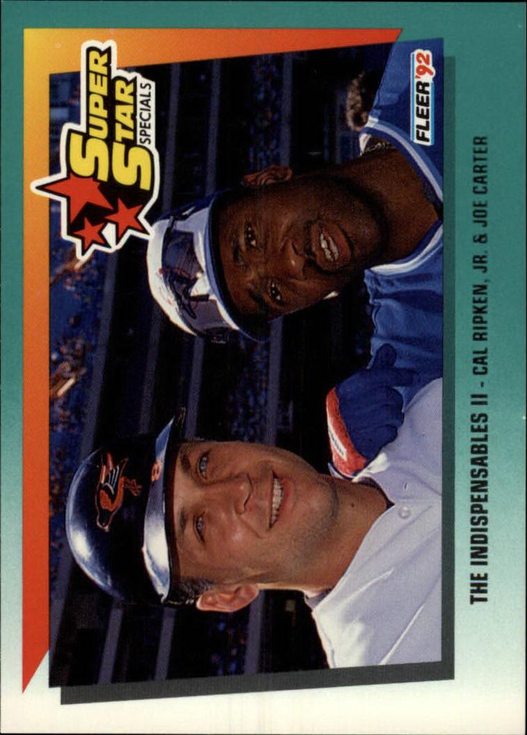 1992 Fleer #703 Cal Ripken/Joe Carter