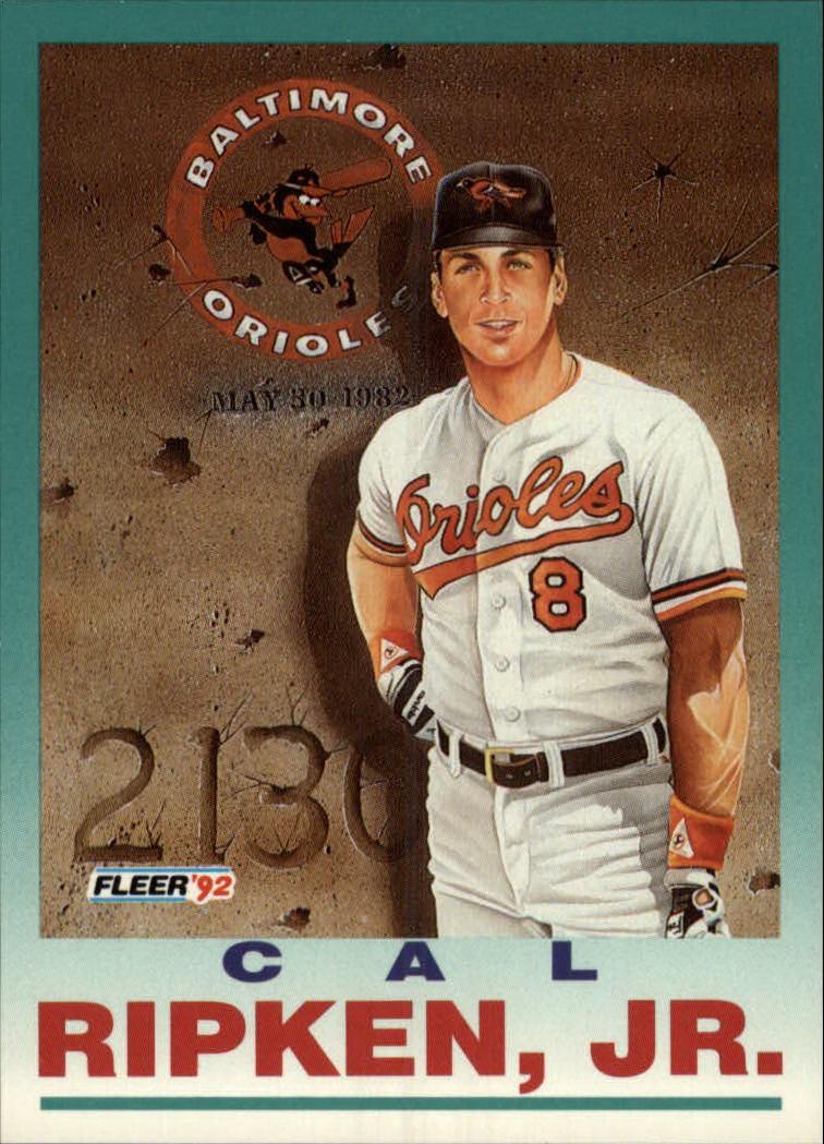1992 Fleer #711 Cal Ripken PV