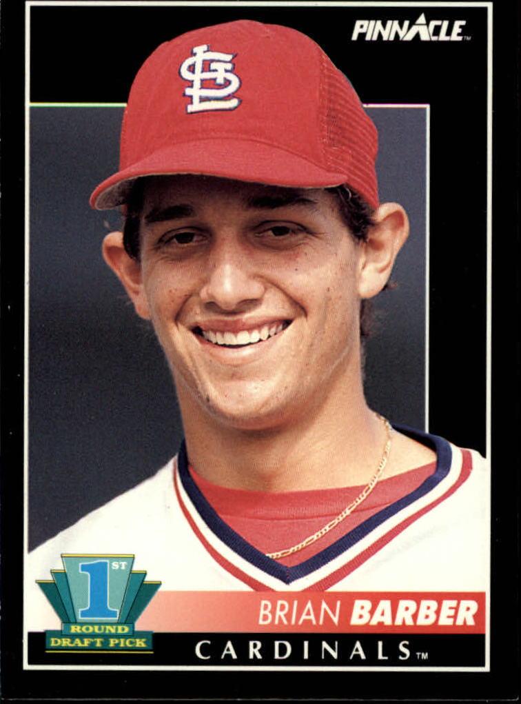 1992 Pinnacle #298 Brian Barber RC