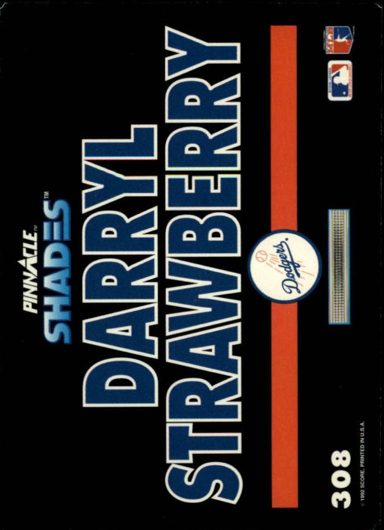 1992 Pinnacle #308 Darryl Strawberry SH back image