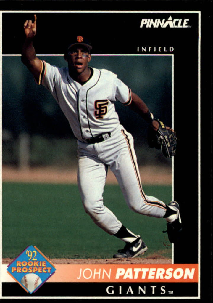 1992 Pinnacle #532 John Patterson UER RC/Listed as being born in 1960;/should be 1967