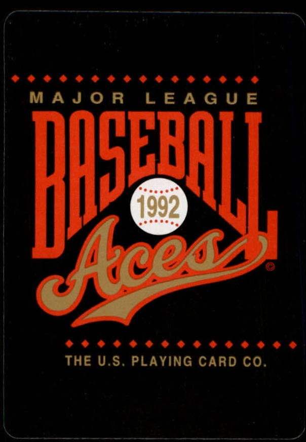 1992 U.S. Playing Cards All-Stars #10H Barry Bonds back image