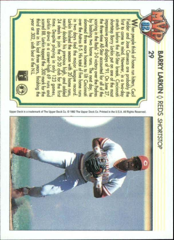 1992-Upper-Deck-Team-MVP-Holograms-You-Pick-Buy-10-cards-FREE-SHIP thumbnail 47